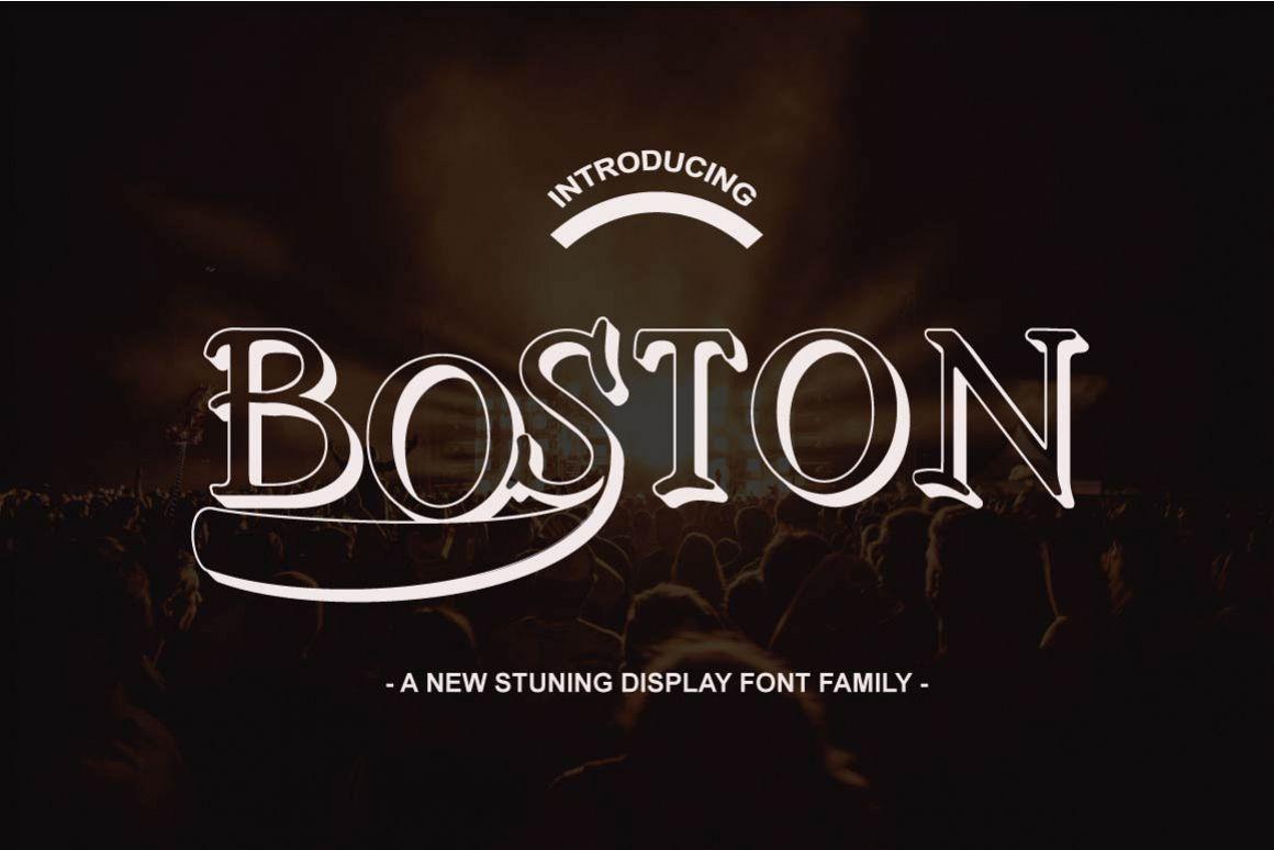 Boston Font Family example image 1