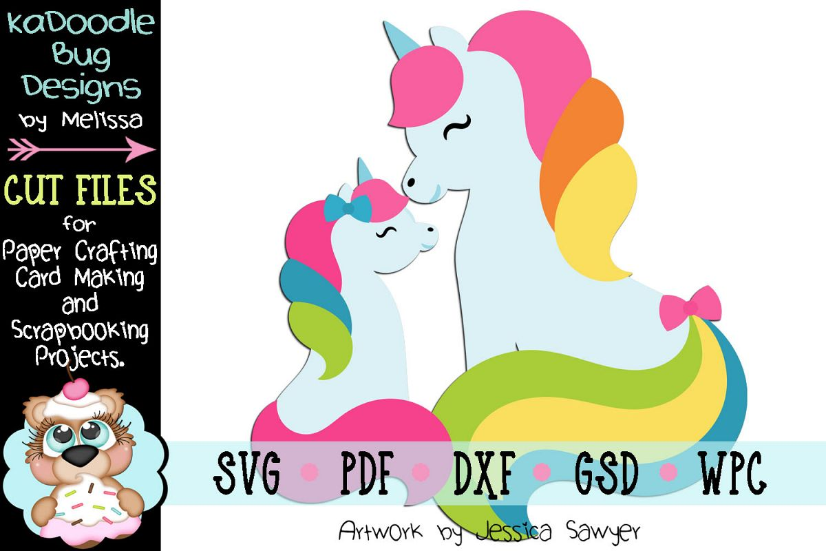 Pretty Unicorn Cut File - SVG PDF DXF GSD WPC example image 1