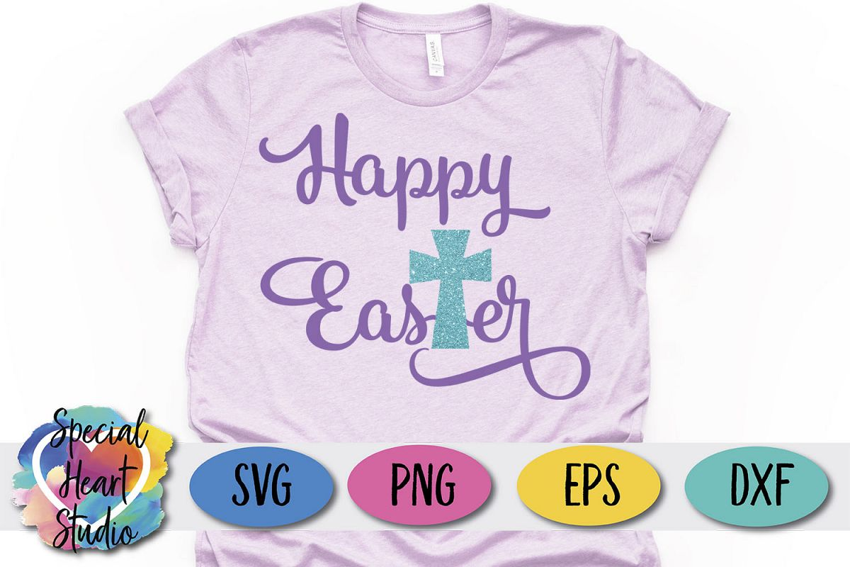 Happy Easter - Easter SVG Girl Easter Cut File example image 1