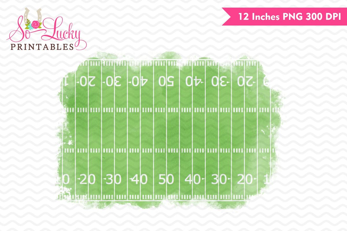 Football field watercolor printable sublimation design example image 1