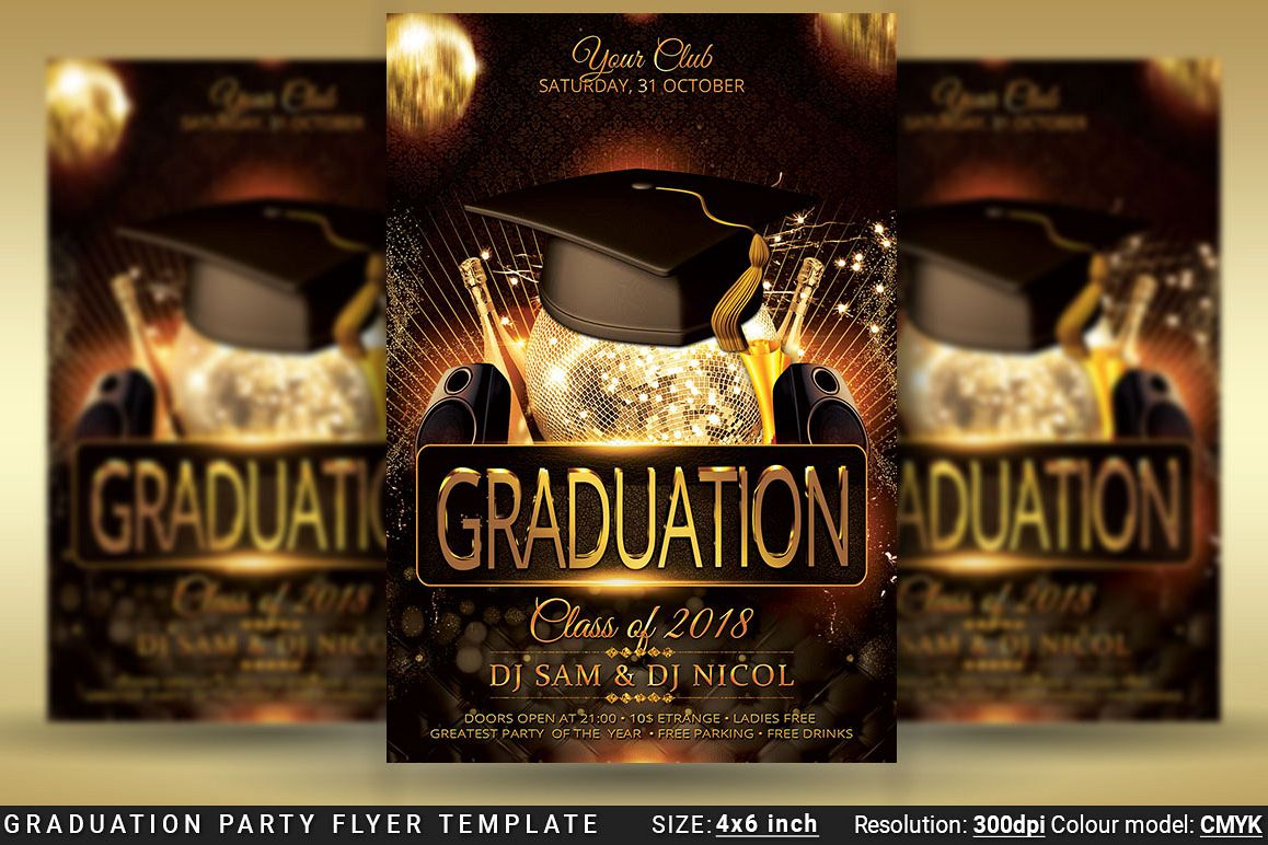 graduation party flyer template prom example image 1
