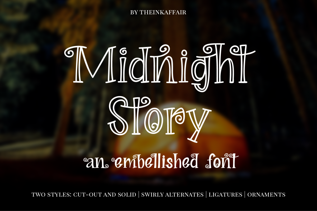 Midnight Story Font Family example image 1