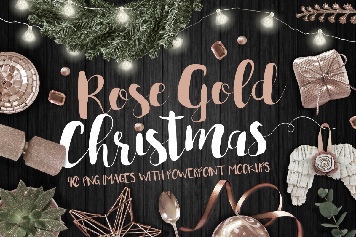 Rose Gold Christmas example image 1
