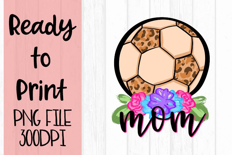 Doodle Mom Soccer Ready to Print example image 1