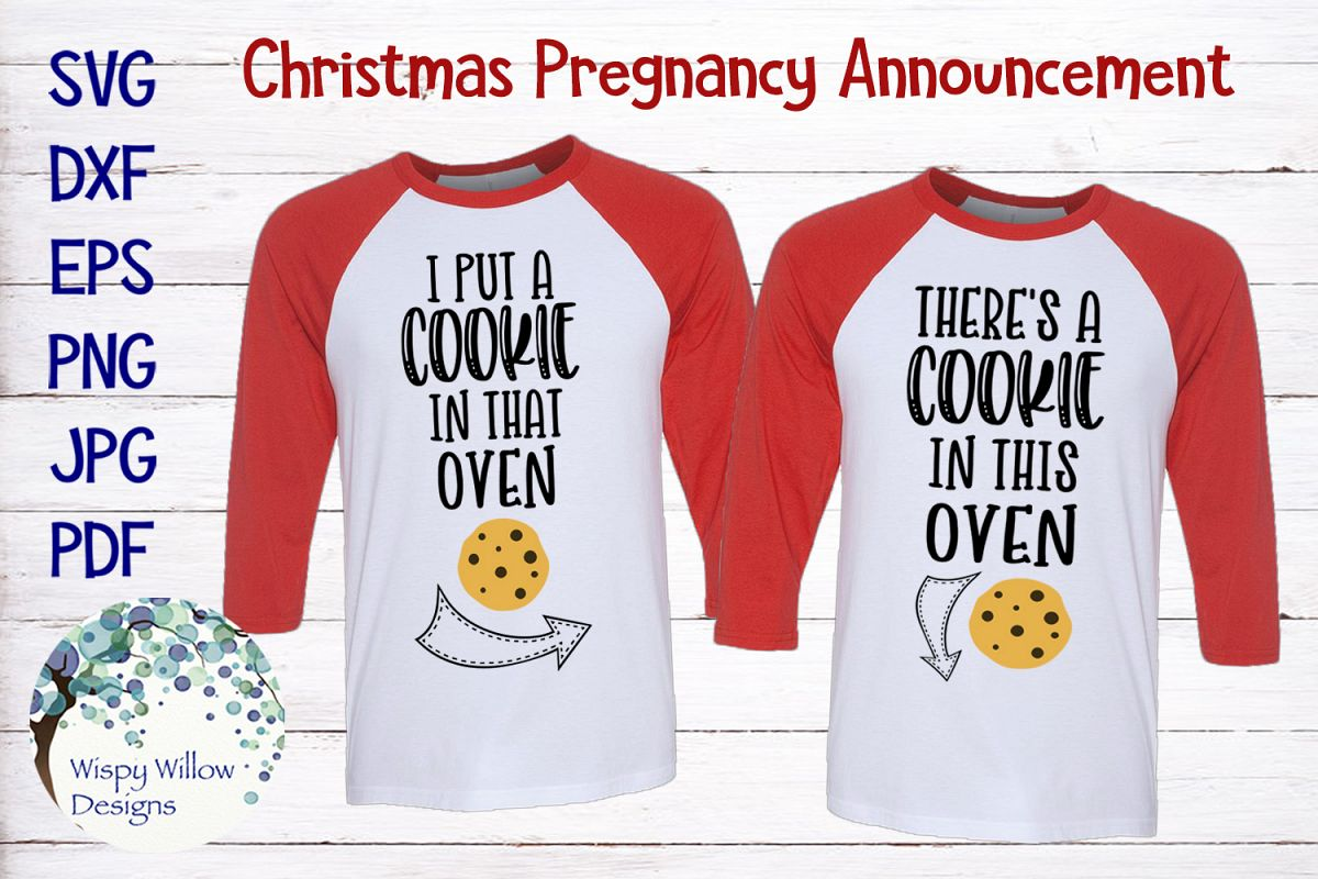 155704edcca9b Christmas Pregnancy Announcement | Maternity Shirts SVG example image 1