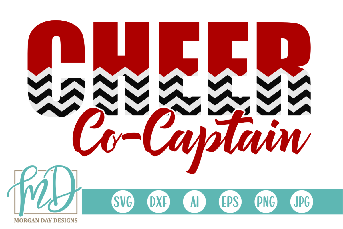 Cheer Co Captain - Cheerleader SVG, DXF, AI, EPS, PNG, JPEG example image 1