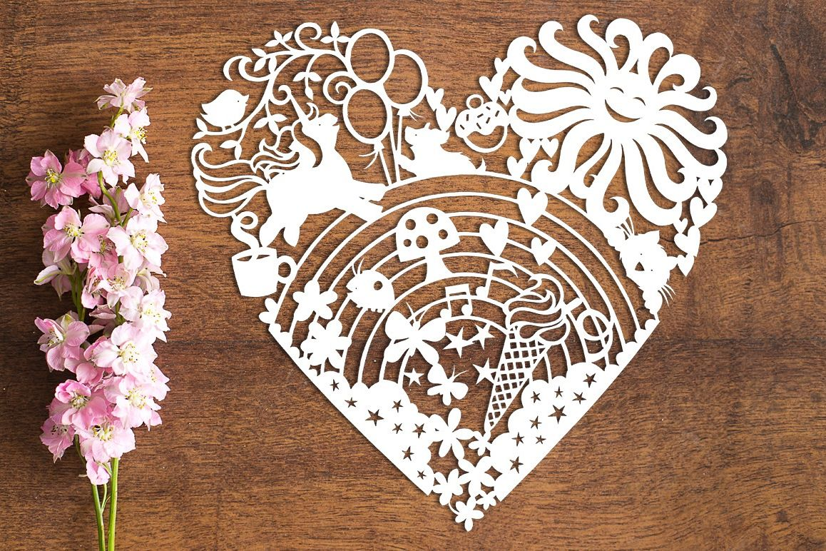 Happiest Template in the World - Paper Cutting Template example image 1