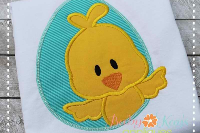Chick in Egg Frame Boy 4x4, 5x7, 6x10, 8x8 example image 1