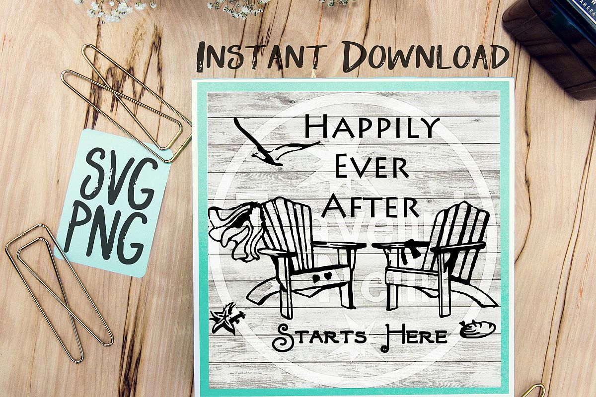 Happily Ever After Starts Here SVG example image 1