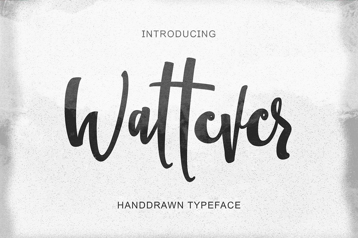 Wattever | Handdrawn Typeface example image 1