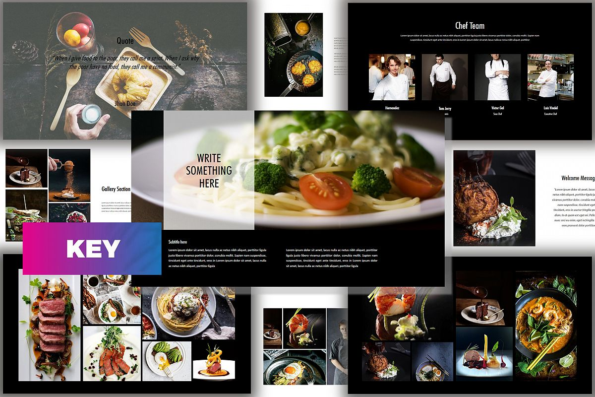 Core - Food Keynote Dark Template example image 1