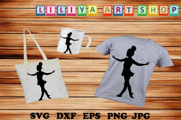 Afro Ballerina silhouettes svg, Ballerina svg example image 1