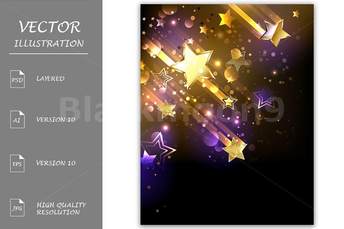 Starfall ( Gold stars ) example image 1