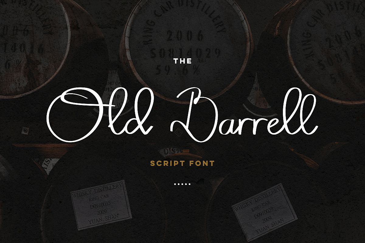 Old Barrell script font example image 1