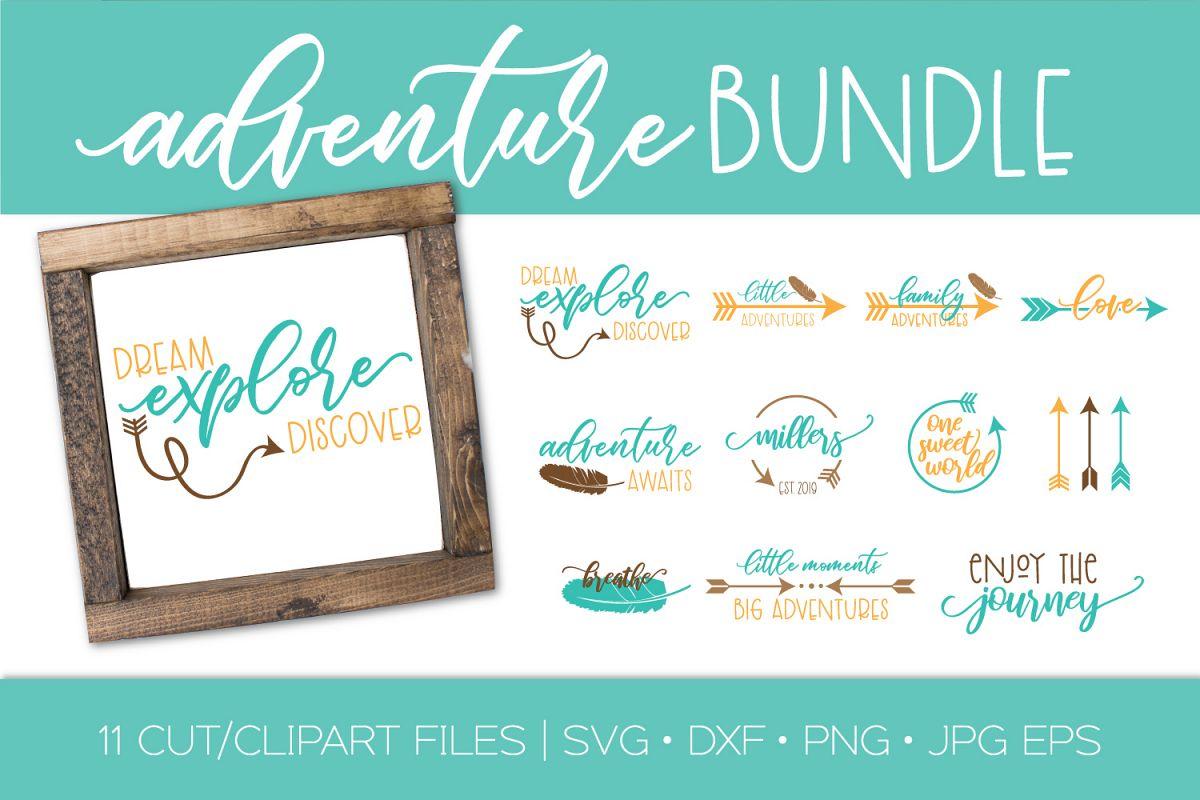 Adventure SVG Bundle| Adventure Arrows Feather Boho SVG DXF example image 1