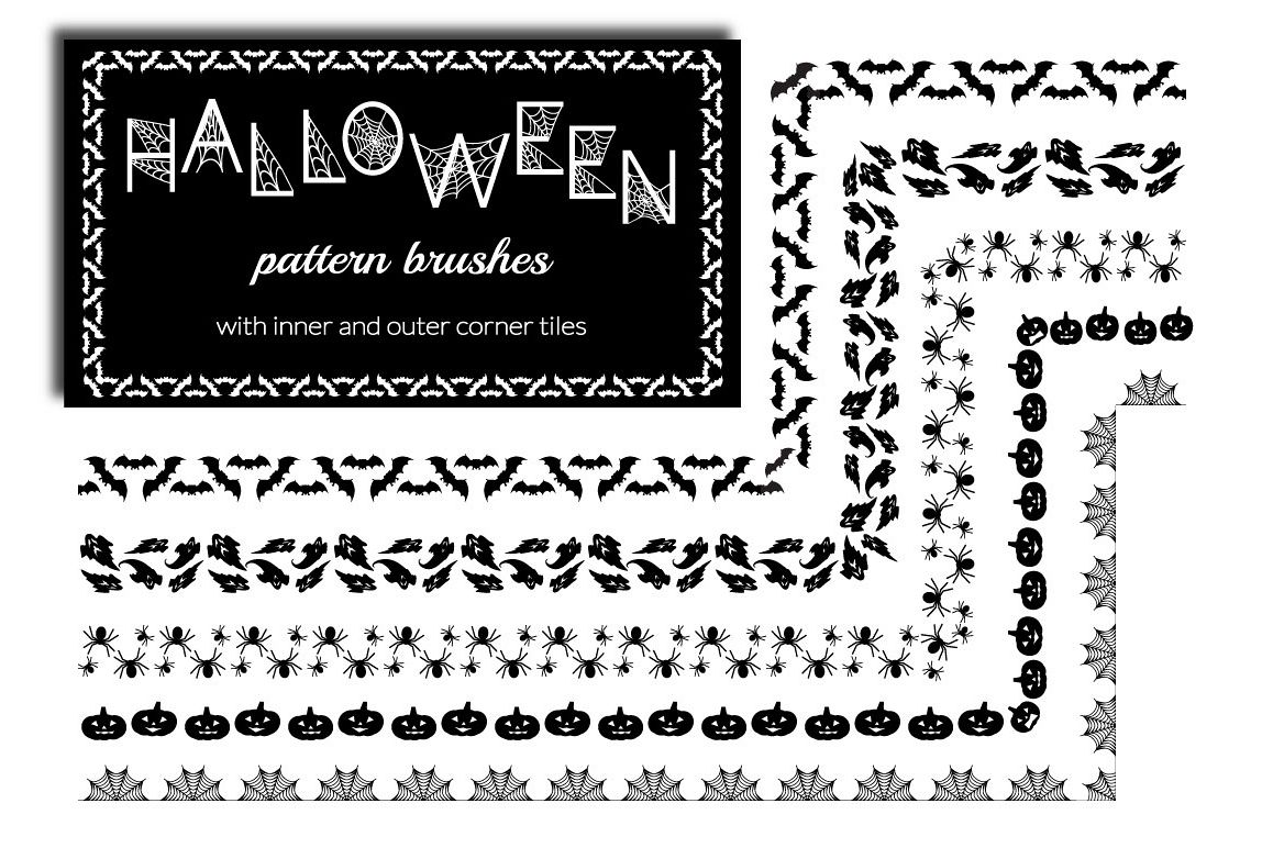 Halloween Pattern Brushes example image 1