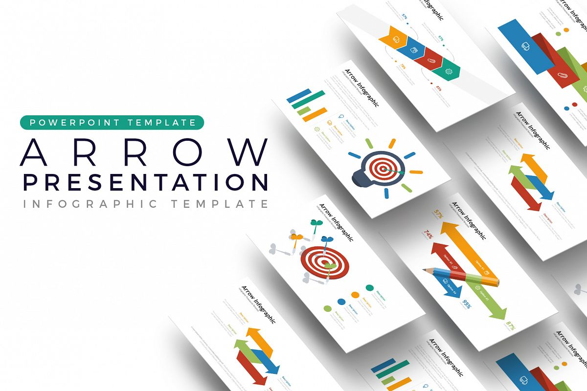 Arrow Presentation - Infographic Template example image 1