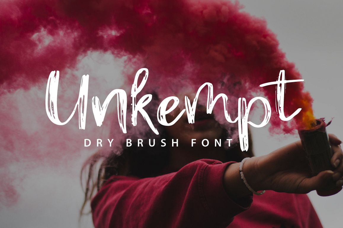 Unkempt | Dry Brush Font example image 1