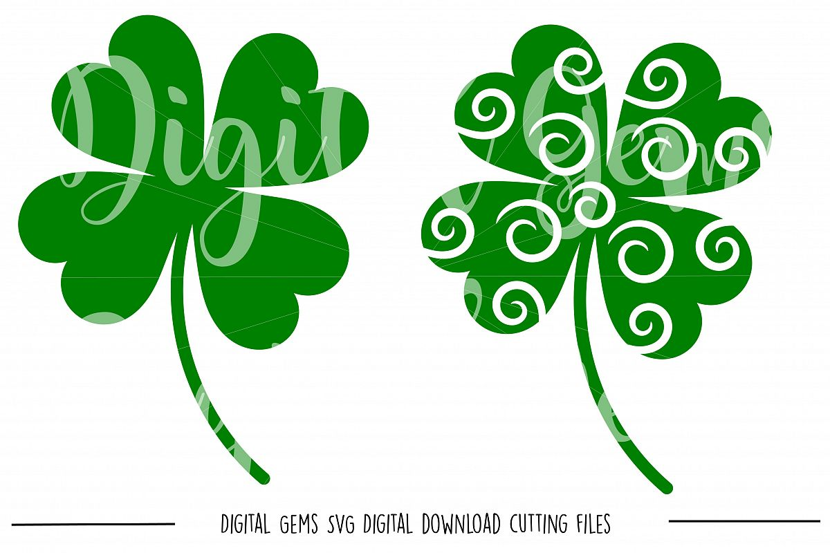 Clover SVG / DXF / EPS / PNG files example image 1