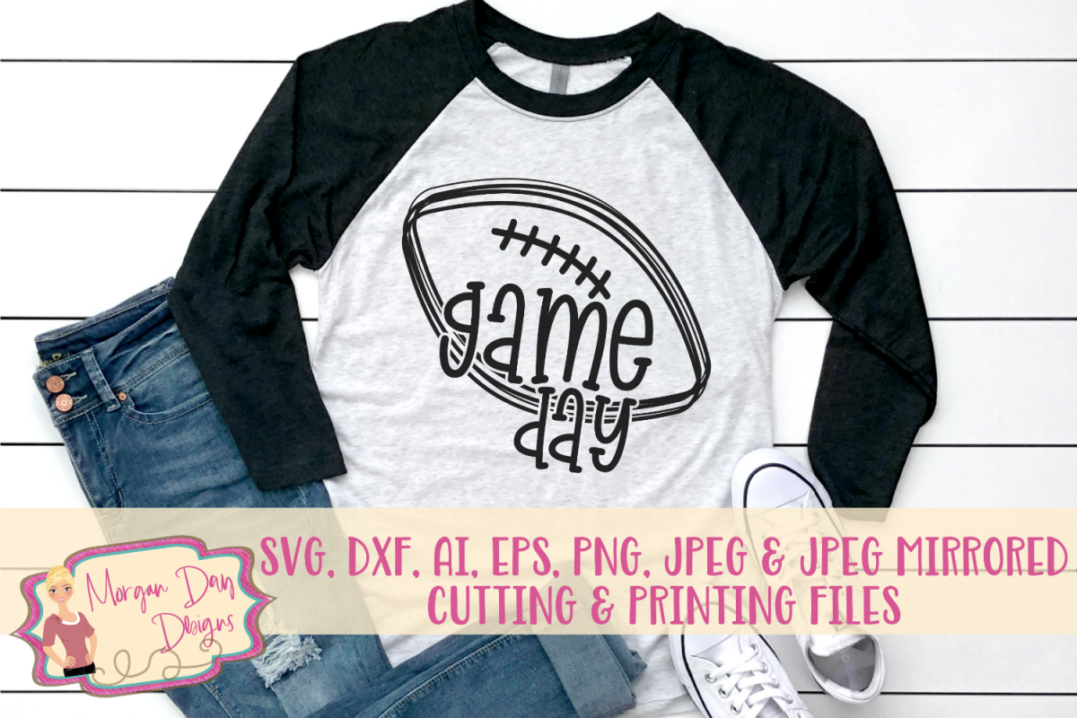 Game Day SVG, DXF, AI, EPS, PNG, JPEG example image 1