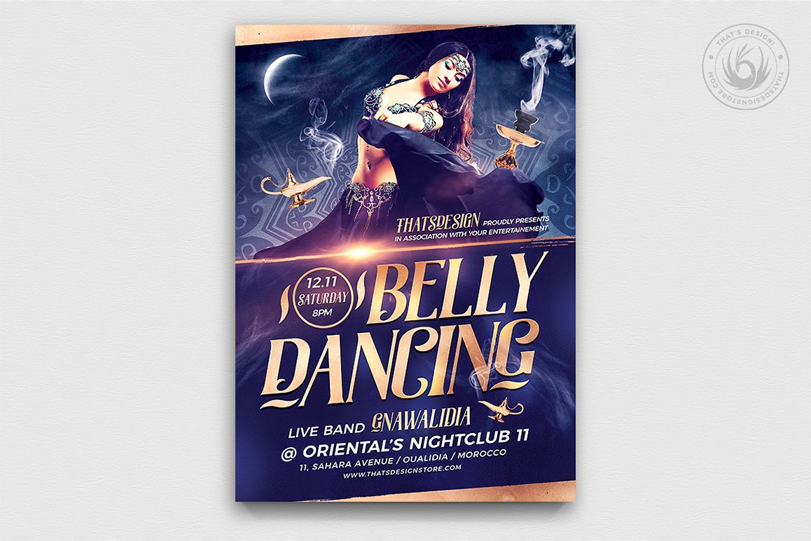 Belly Dancing Flyer Template V2 example image 1
