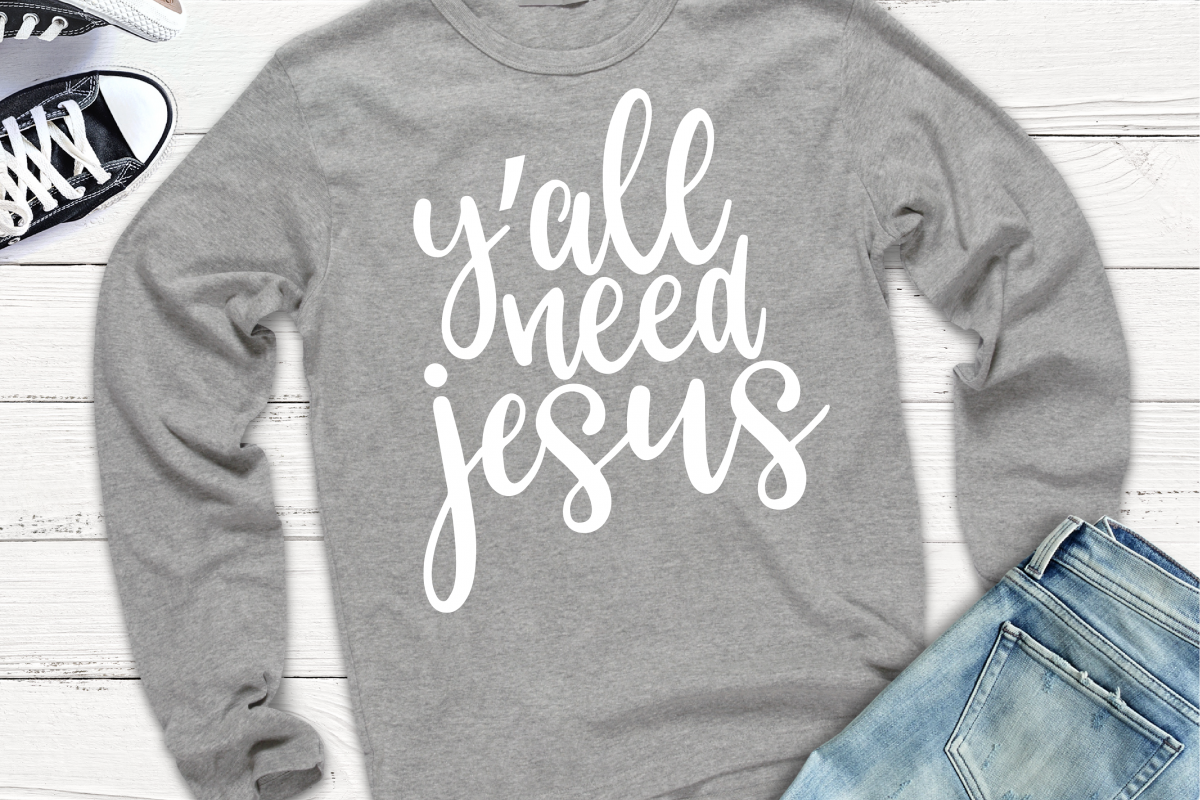Y'all Need Jesus SVG example image 1