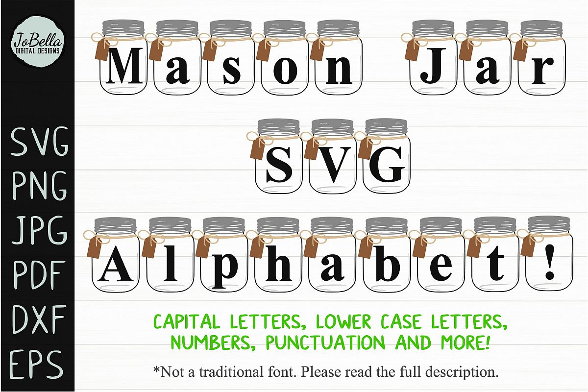 Farmhouse SVG Alphabet, Printables and Sublimation PNGs example image 1