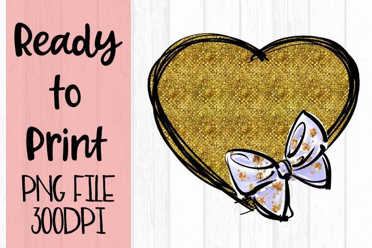 Glitter Heart Monogram Ready to Print example image 1