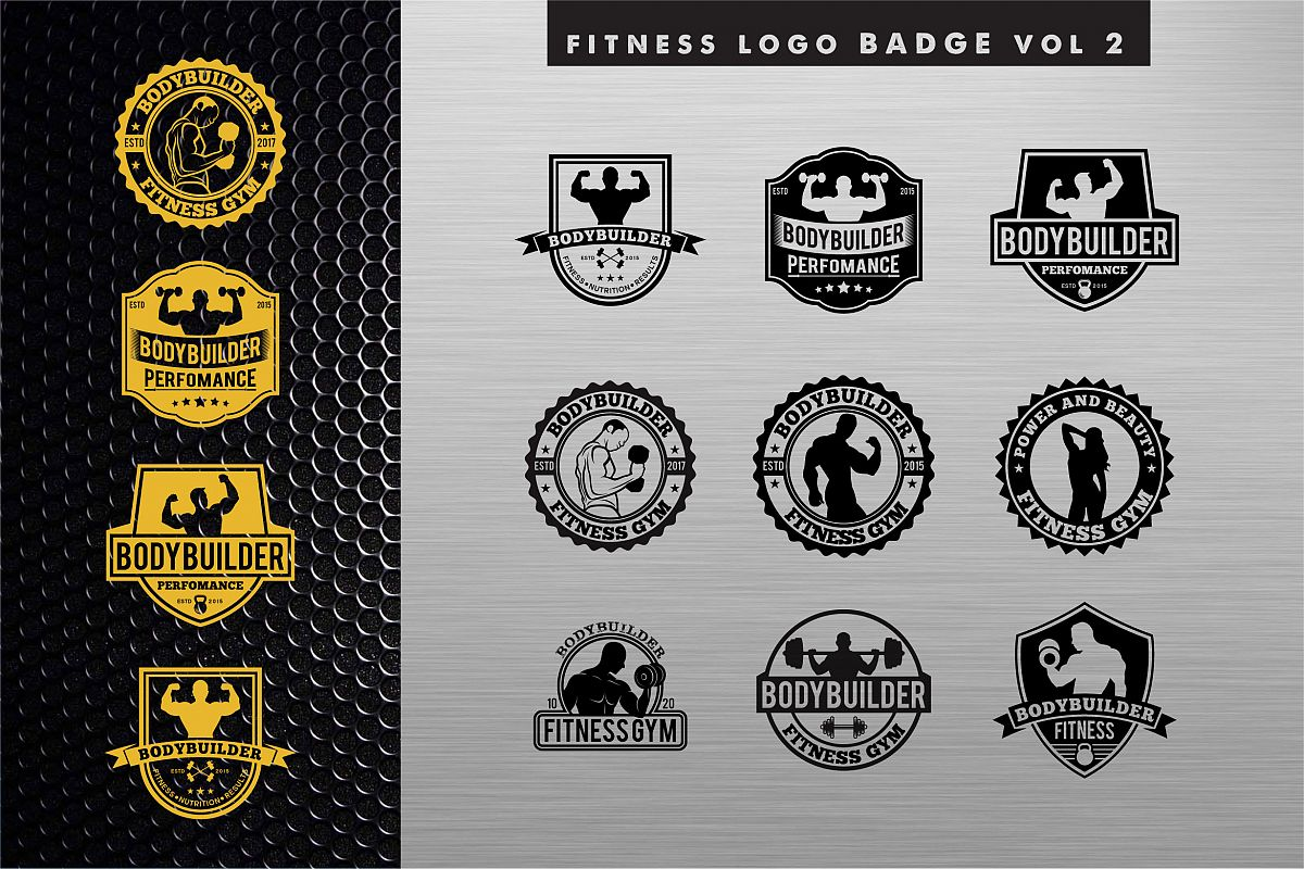 Bodybuilding Gym Logo2 example image 1