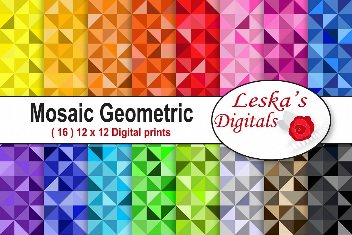Colorful Mosaic Geometric Pattern example image 1
