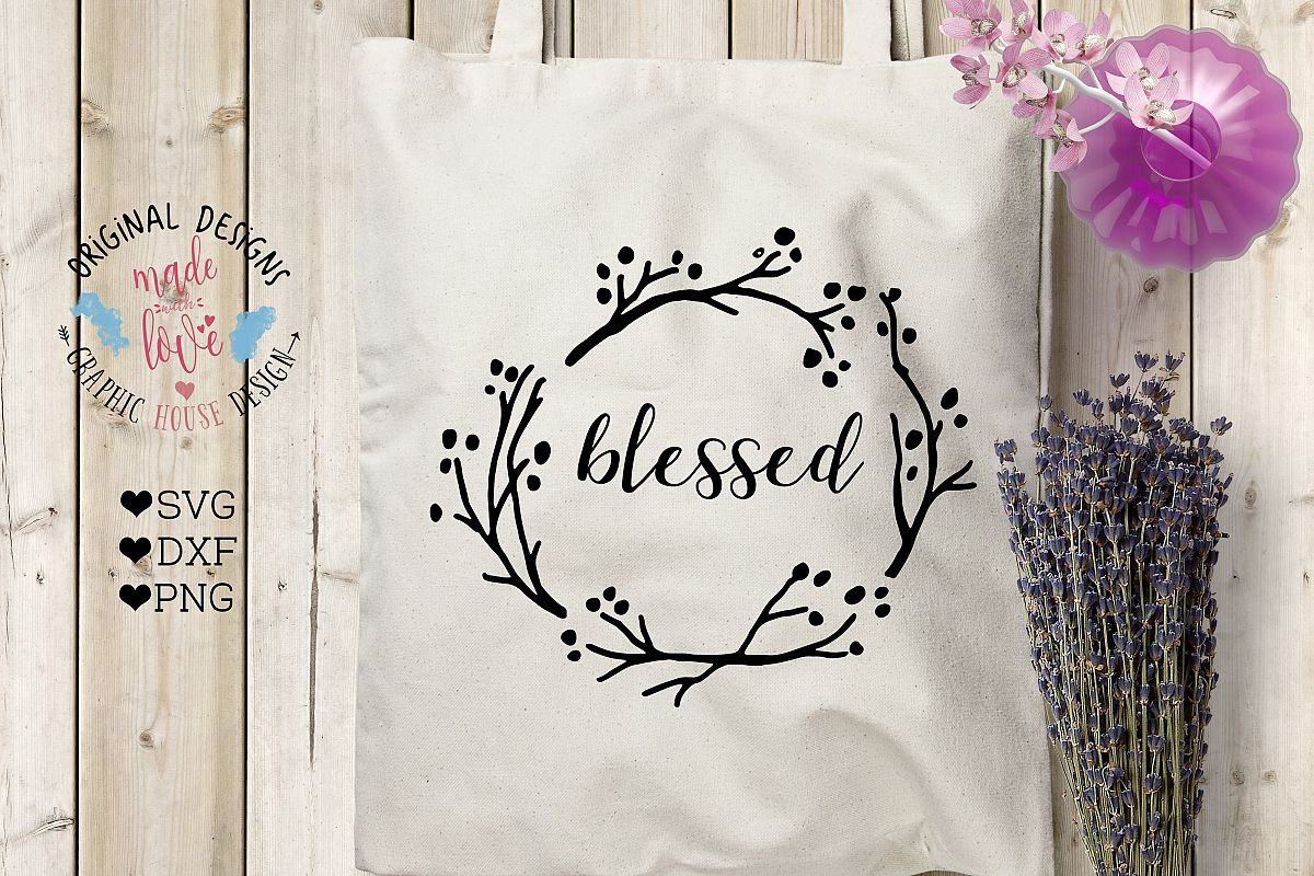 Blessed  Cutting File (SVG, DXF, PNG) example image 1