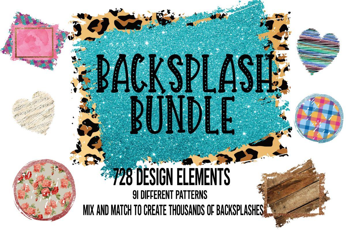 Backsplash Frames Bundle for Sublimation - 728 PNG Designs example image 1