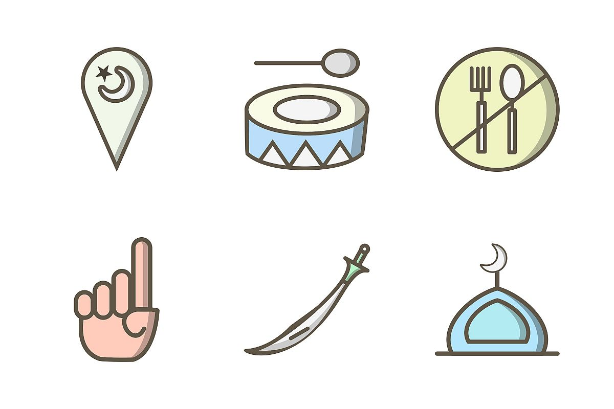 Set Of Ramadan Icons example image 1