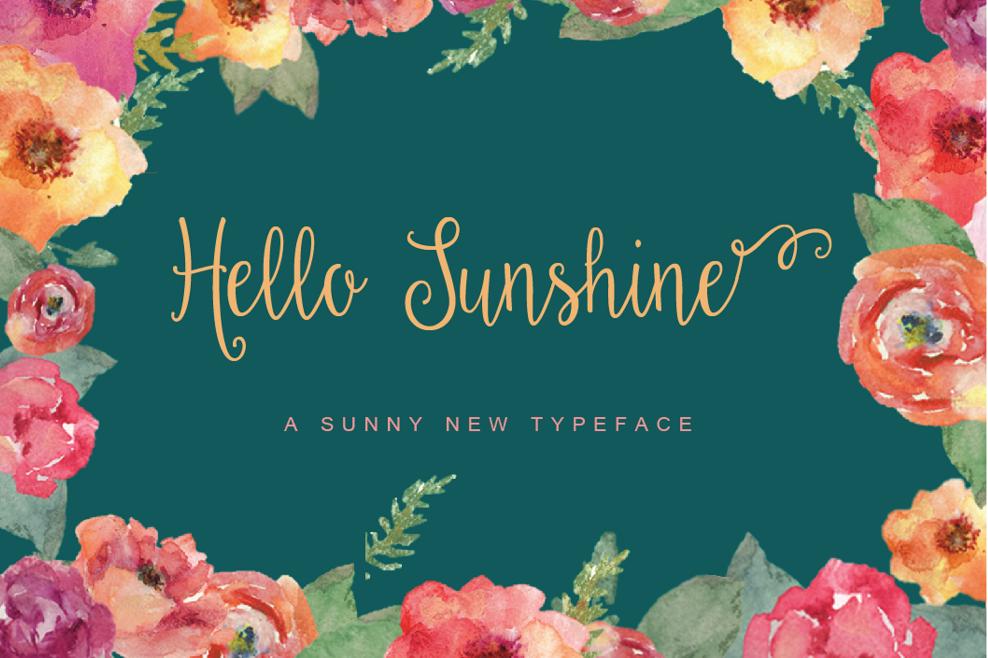 Hello Sunshine + Ornaments example image 1