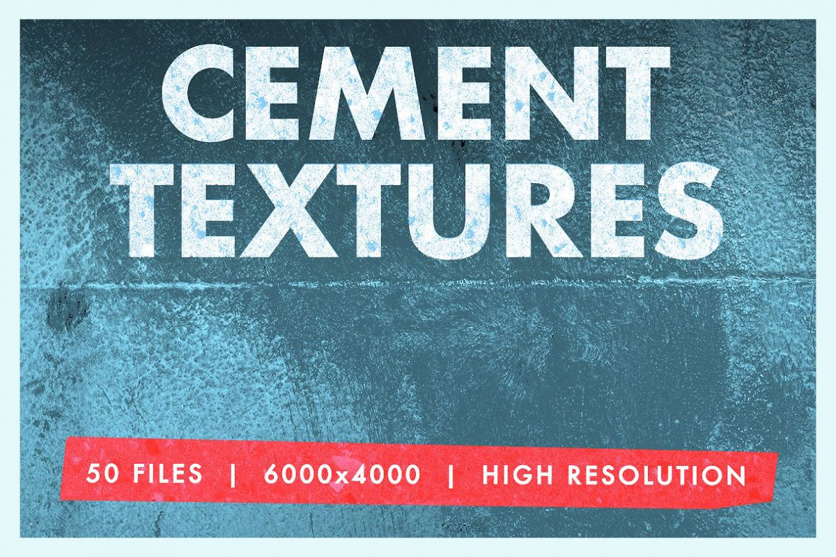50 Cement Textures Mega Pack example image 1
