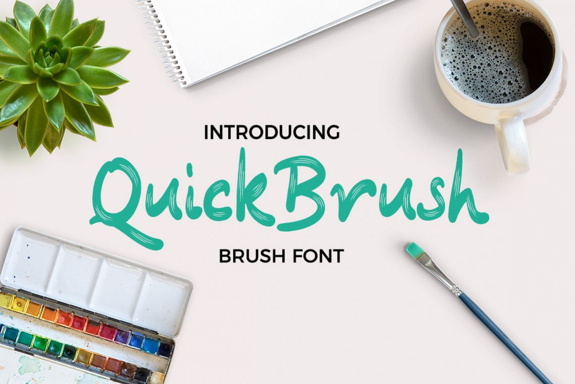 Quickbrush Font example image 1