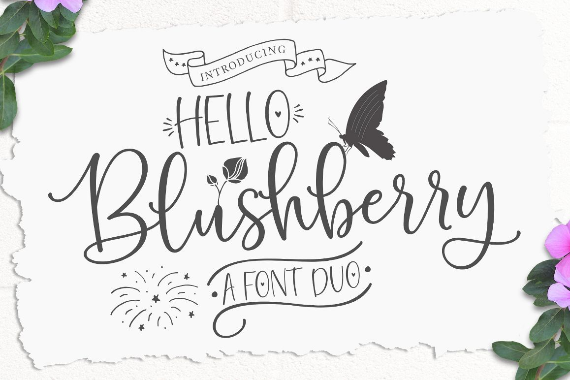 Hello Blushberry - Font Duo example image 1