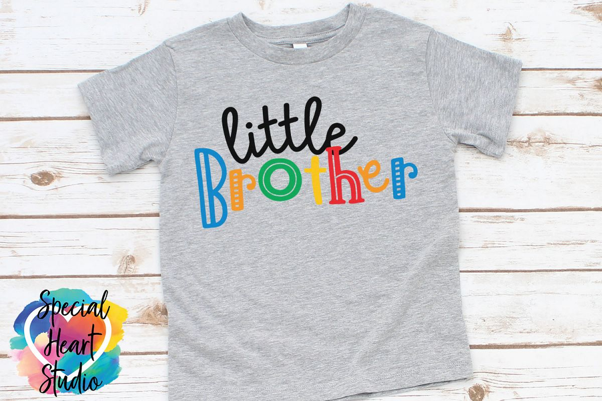 Little Brother - A family and sibling SVG example image 1
