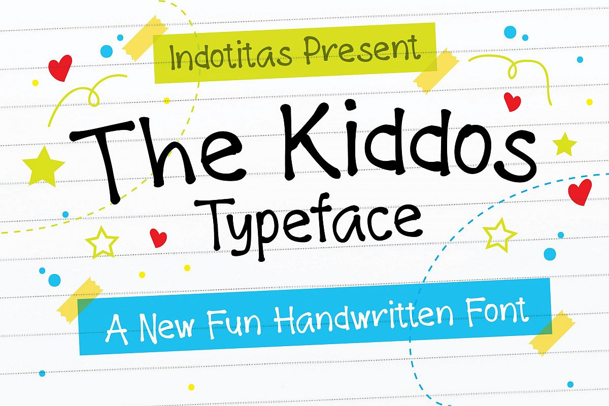 The Kiddos Typeface example image 1