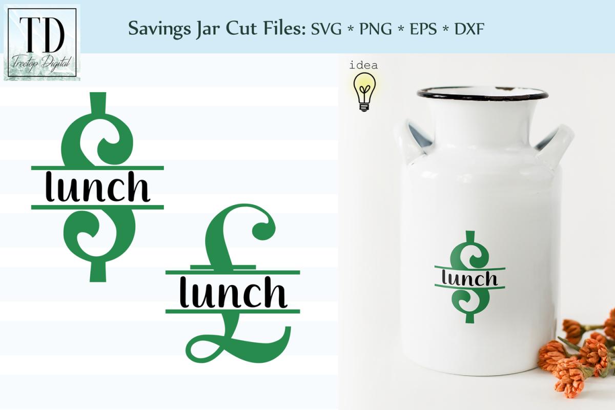 Saving for Lunch Bank Design, Savings Series, SVG example image 1