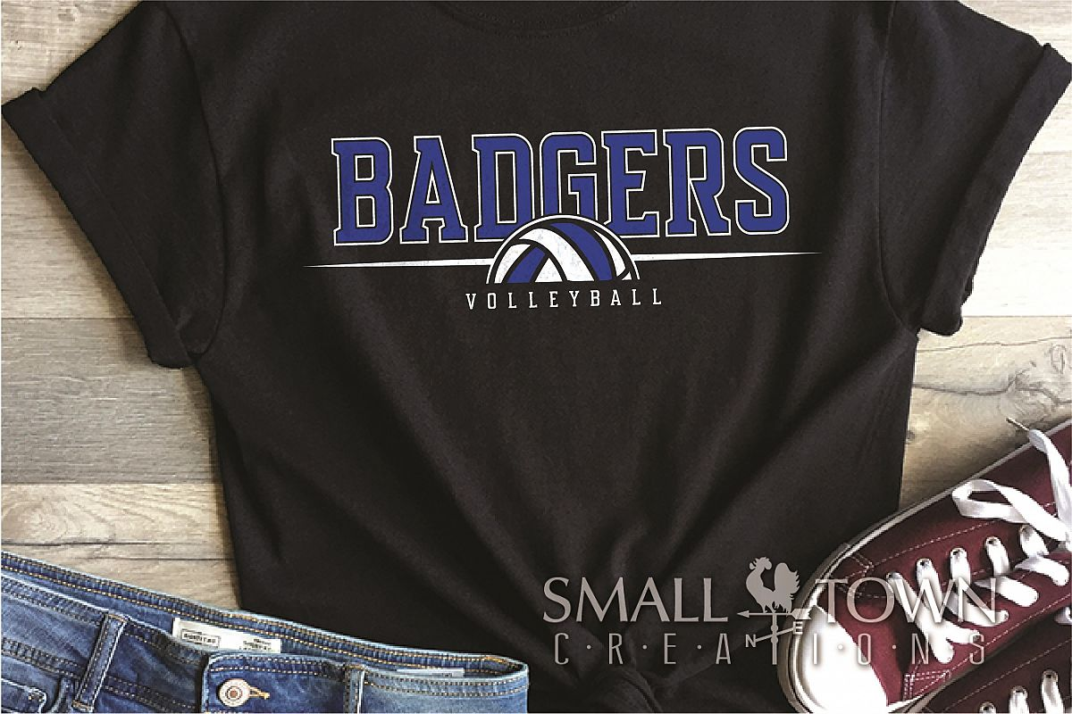 Badger, Badger Volleyball Team, Sport, PRINT, CUT & DESIGN example image 1