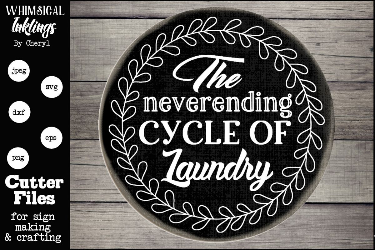 The Neverending Cycle Laundry SVG example image 1