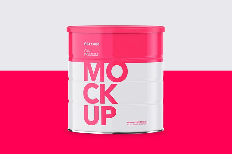 Milk Powder Can - Front Angle - Mockup example image 1