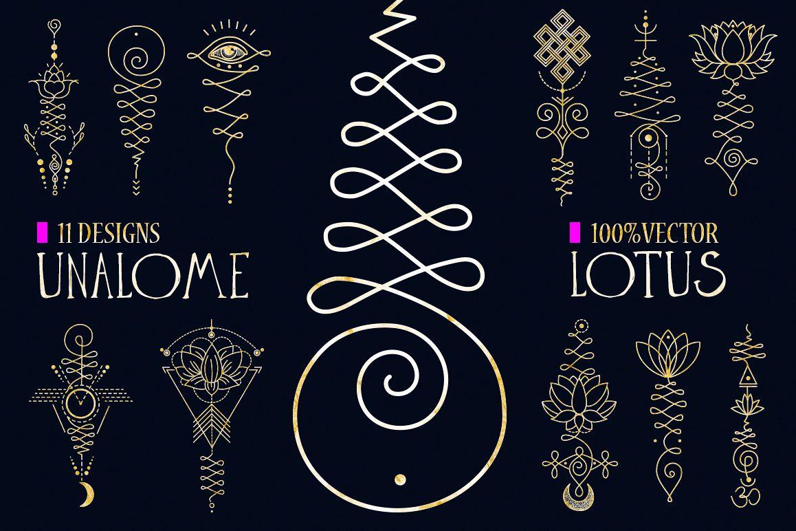 11 Unalome & lotus Sacred symbols example image 1