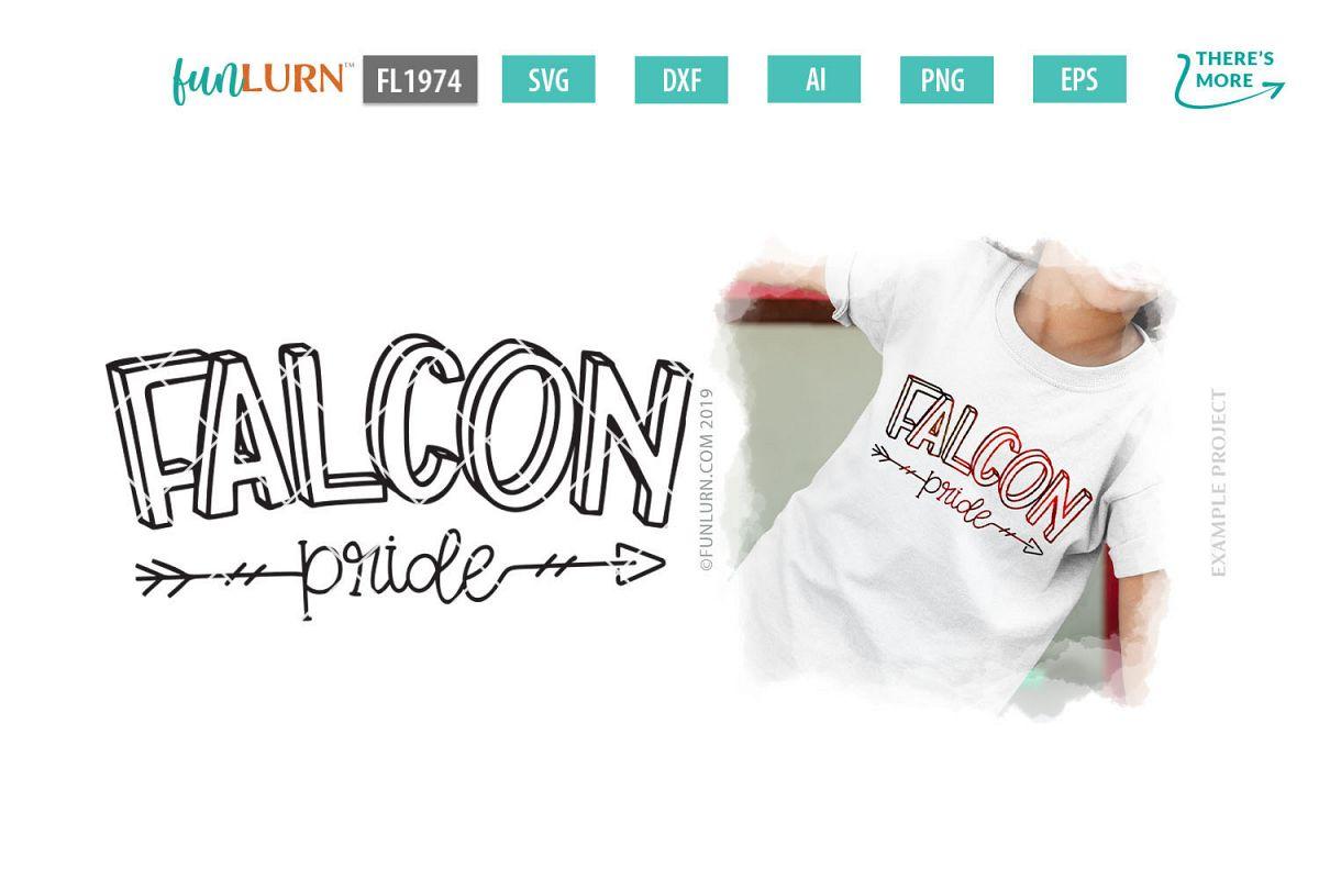 Falcon Pride Team SVG Cut File example image 1