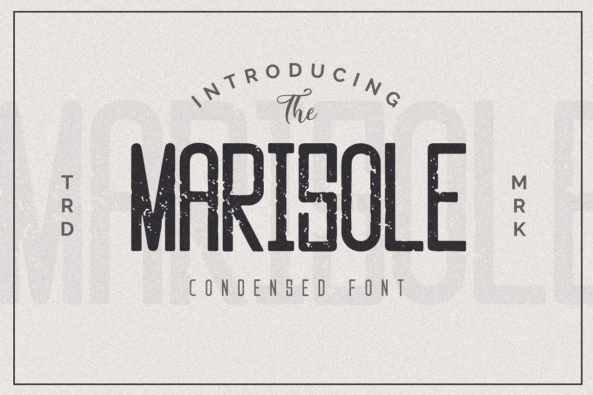 Marisole Condensed Font example image 1