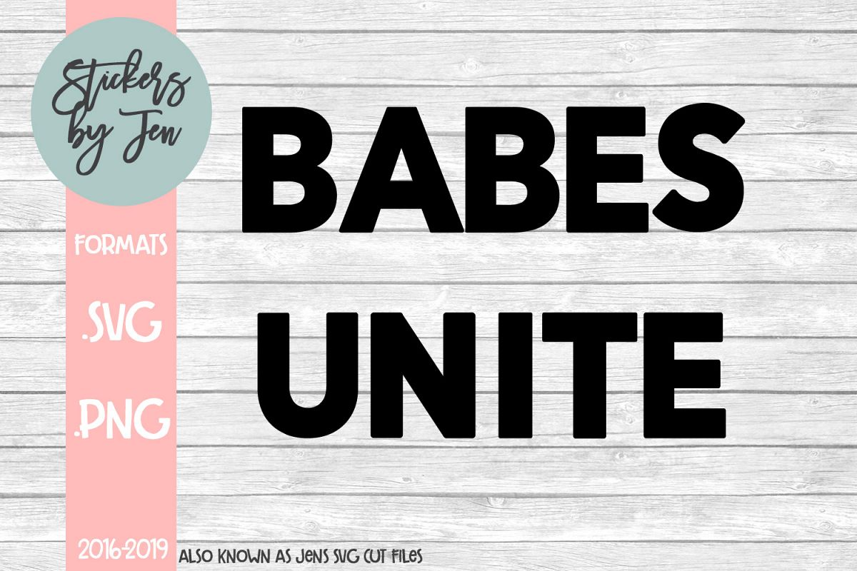 Babes Unite SVG Cut File example image 1