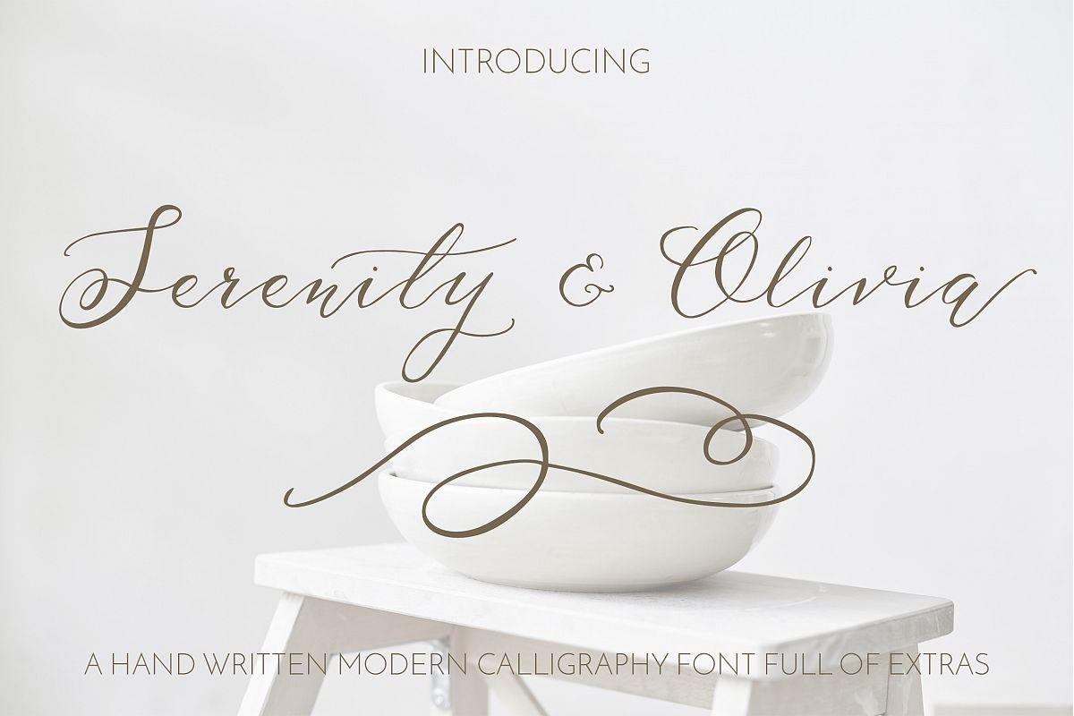 Serenity & Olivia Script Font example image 1