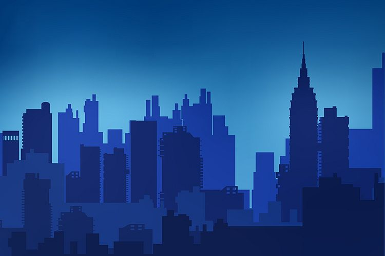 Landscape urban silhouette example image 1