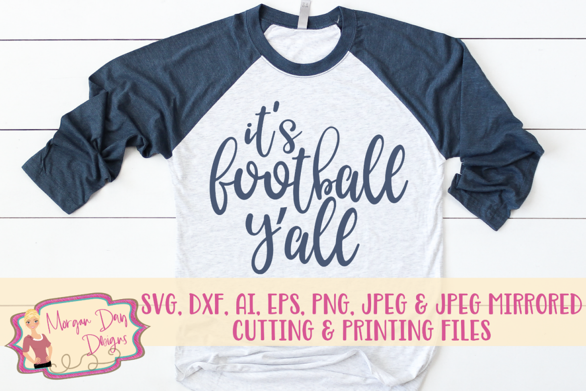 It's Football Y'all SVG, DXF, AI, EPS, PNG, JPEG example image 1